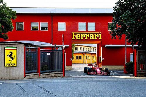 Leclerc rueda en F1 2020 de Ferrari en Maranello