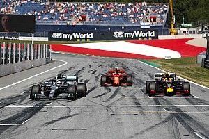 De startgrid van de Oostenrijkse Grand Prix