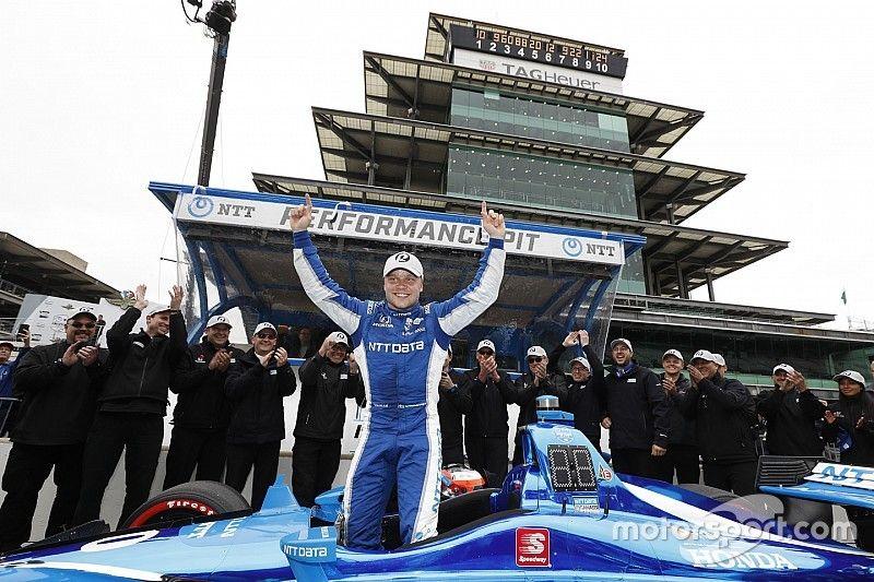 Rosenqvist obtiene la pole en Indianápolis