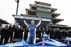 Indy GP: Rosenqvist grabs first IndyCar pole, leads Ganassi 1-2