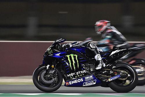 Viñales y Rins lideran el estreno del test de Qatar; Lorenzo, a dos segundos