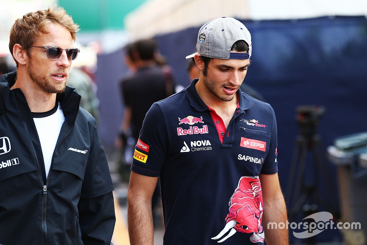 Button elogia Sainz e vê erro em contratação de espanhol pela Ferrari