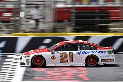 Ryan Blaney leads Saturday morning Cup practice