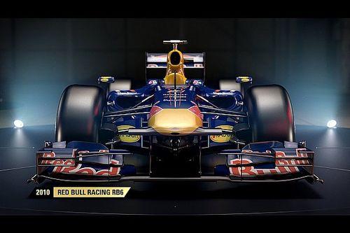 Red Bull RB6 masuk susunan mobil klasik F1 2017