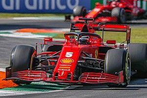 "Vettel says Ferrari's car a ""handful"" to drive at Monza"
