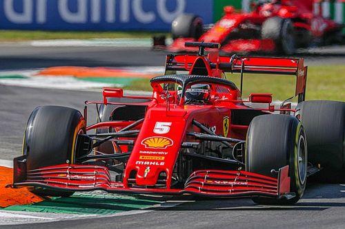 "Vettel says Ferrari's car a ""handful"" to drive at Monza"