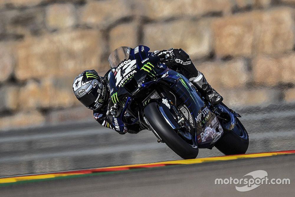 Viñales manda en un 1-2-3 de Yamaha en Aragón