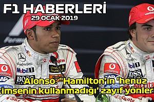 """Video: Alonso: """"Hamilton'ın zayıf yönleri var'' - 29 Ocak Çarşamba F1 ve Motor Sporları Haberleri"""