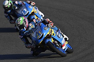Valencia Moto3: Garcia wins madcap red-flagged finale by 0.005s