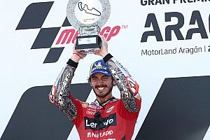 """MotoGP near-misses give Bagnaia's first win """"extra sweetness"""""""