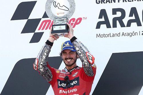 Bagnaia gana su primera carrera de MotoGP en Aragón