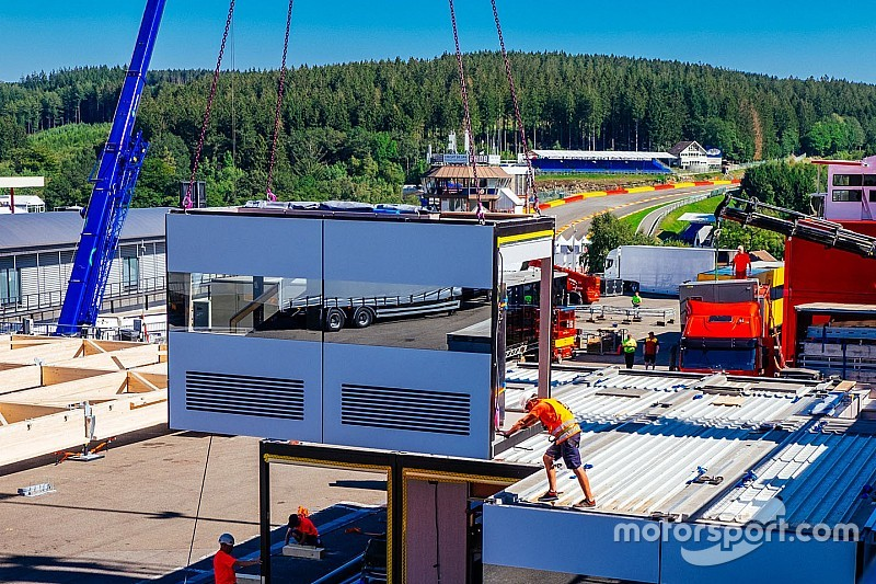 Foto's: Formule 1 arriveert op Spa-Francorchamps