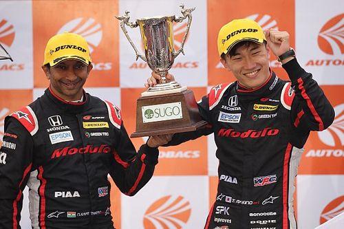 カーティケヤン、GT500初表彰台に笑顔「今回は走り出しから速さがあった」