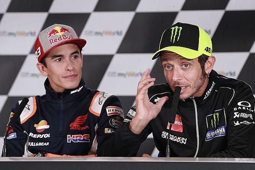 """MotoGP: Márquez diz que apelo de Rossi com fãs é algo """"irrepetível"""" na categoria"""