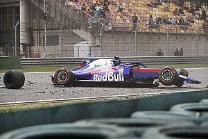 Veja como foi a pancada que tirou Albon do treino classificatório da F1 na China