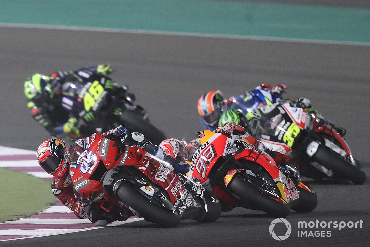 Dovizioso's late error helped him beat Marquez