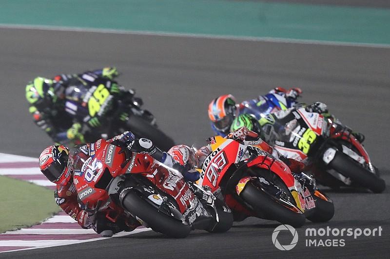 MotoGP in Katar: Dovizioso siegt hauchdünn vor Marquez