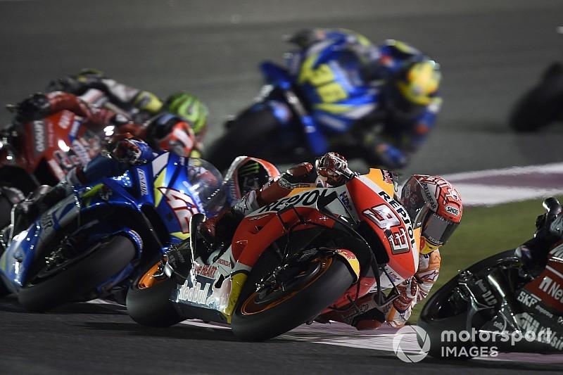 """Trage ronden Dovizioso hielpen """"worstelende"""" Marquez naar tweede plek"""