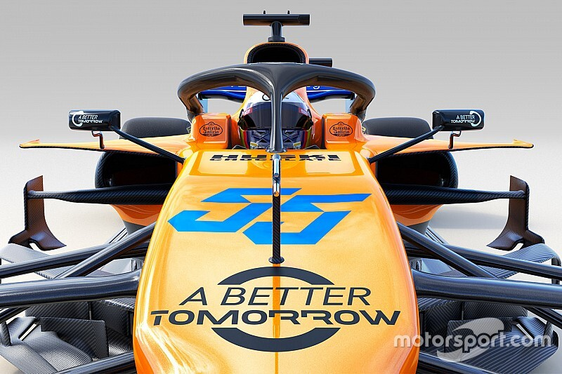 Slide view: Compare the McLaren MCL34 versus 2018 car