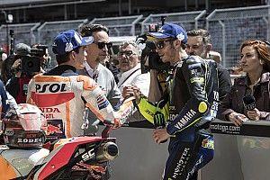 """Márquez: """"A Rossi lo veo para seguir corriendo"""""""
