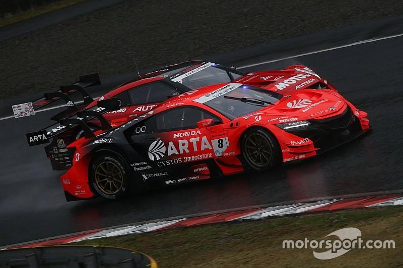 第1戦岡山GT500:ホンダ悪夢の同士討ち。ARTA NSX-GTが赤旗終了のレース制す