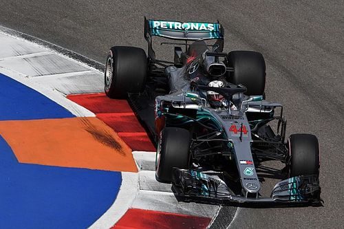 GP Rosji: Hamilton najszybszy również w trzecim treningu