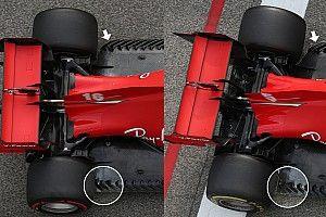 Furcsa Ferrari: aszimmetrikus padlólemezzel kísérleteztek Imolában