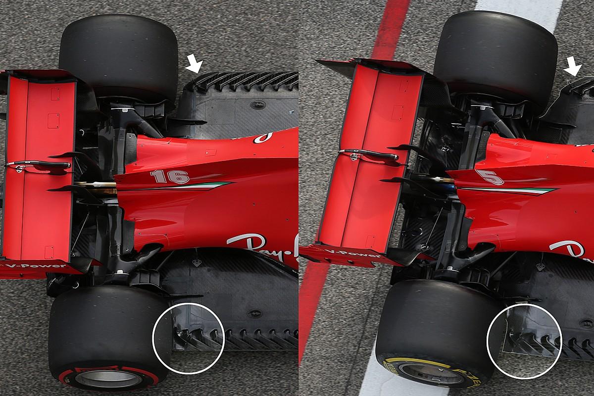 La rareza de Ferrari: usó un fondo plano asimétrico en Imola 2020