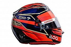Photos - Les casques 2021 de Räikkönen, Giovinazzi et Kubica