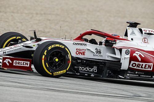 Alfa Romeo laat Kubica in Spanje rijden tijdens VT1 en bandentest