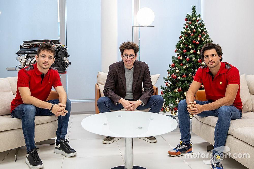 Binotto diz que Leclerc e Sainz começarão 2021 em igualdade de condições