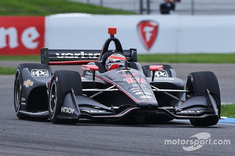 IndyCar GP: Power leads Pigot in disrupted first practice