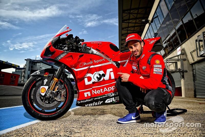 """Ducati con i loghi """"Dovi"""" e """"Petrux"""" al posto di Mission Winnow a Le Mans"""