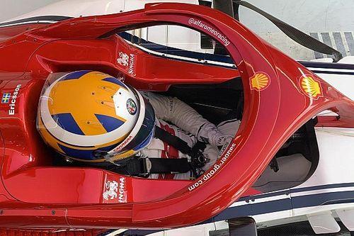 Test Pirelli: ecco Ericsson nell'abitacolo dell'Alfa Romeo C38 al Red Bull Ring