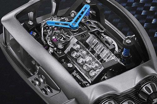 Bu kol saatinin içinde çalışan ufak bir Bugatti W16 motoru var!