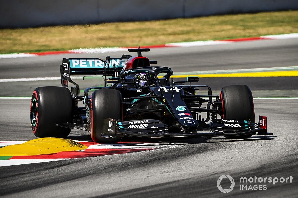 F1: Hamilton 'passeia' e conquista vitória no GP da Espanha