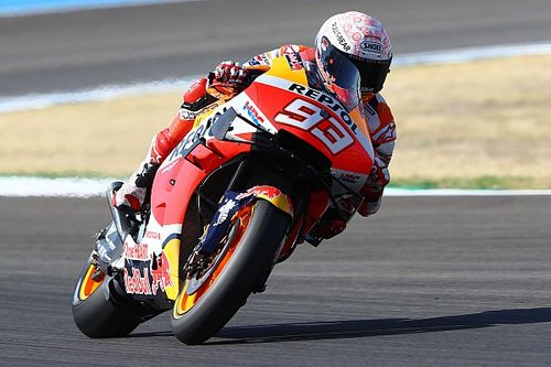 Marquez snelste tijdens warm-up Grand Prix van Spanje