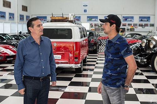 """Nelsinho Piquet revela simplicidade do pai e diz que Nelson dorme junto aos carros: """"Mora na garagem"""""""