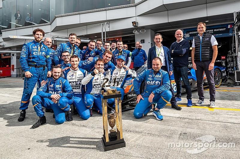 Alpine a reçu le trophée des vainqueurs des 24H du Mans