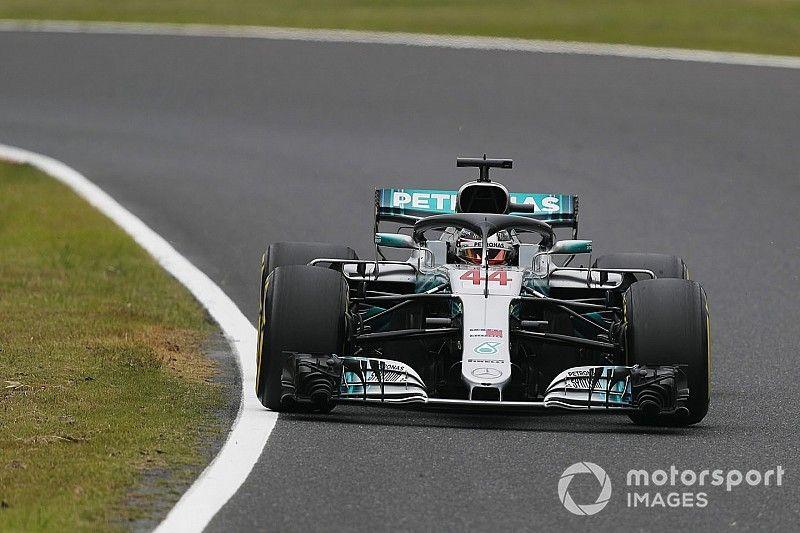Hamilton domineert vrijdagtrainingen in Japan, Verstappen P4