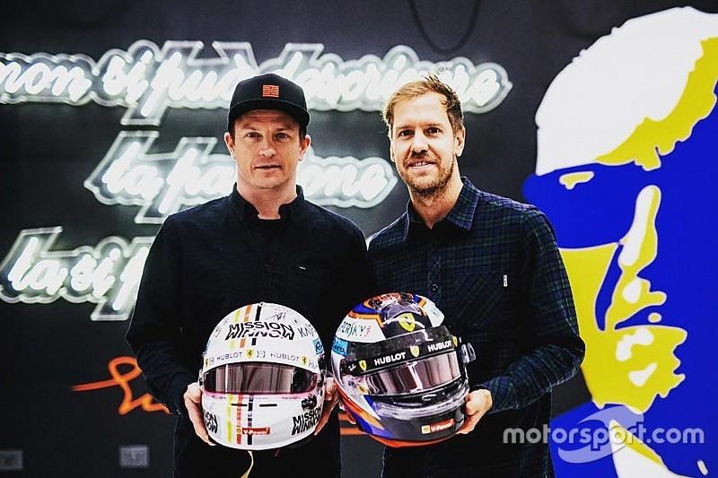 """Scambio di caschi tra Kimi e Vettel: """"E' stato bello lavorare con te"""""""