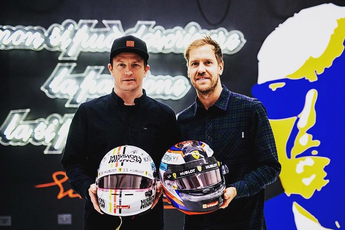 Räikkönen et Vettel ont échangé leurs casques