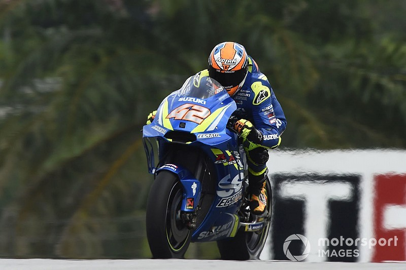 Rins used fire-damaged Suzuki for best Sepang lap