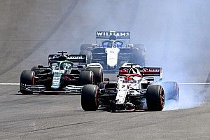 Raikkonen takes blame for Portimao crash with Giovinazzi