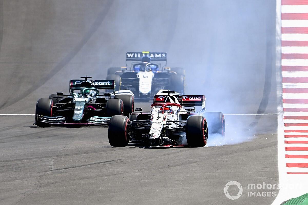 Raikkonen takes blame for F1 Portuguese GP crash with Giovinazzi