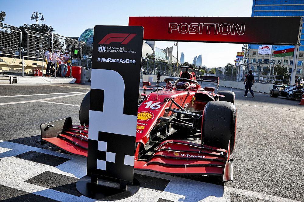 F1 Azerbaijan GP: Leclerc takes pole in interrupted qualifying
