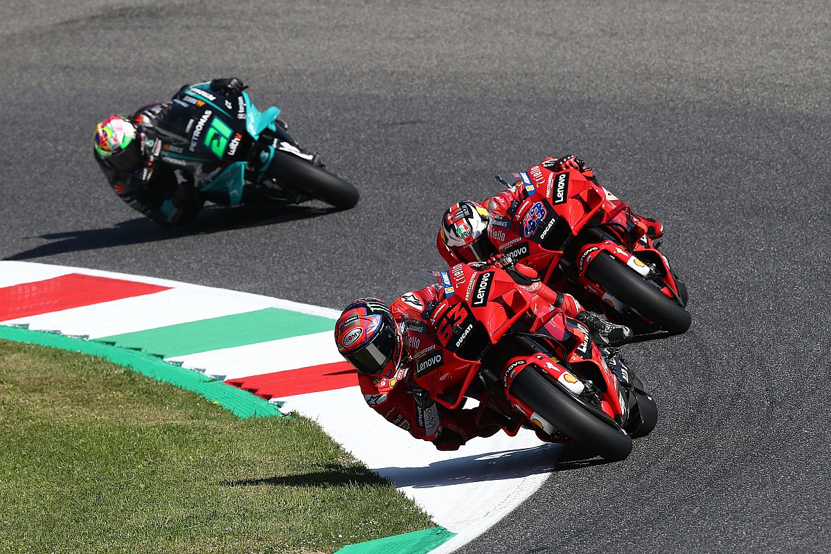 Italian Motogp Bagnaia On Record Pace In Fp3 Vinales Crashes Into Q1