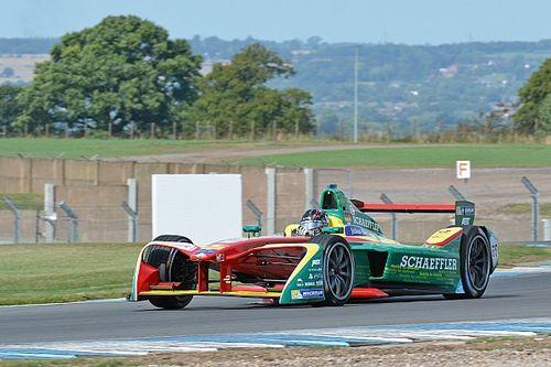 Abt leads rain-affected third Formula E test day