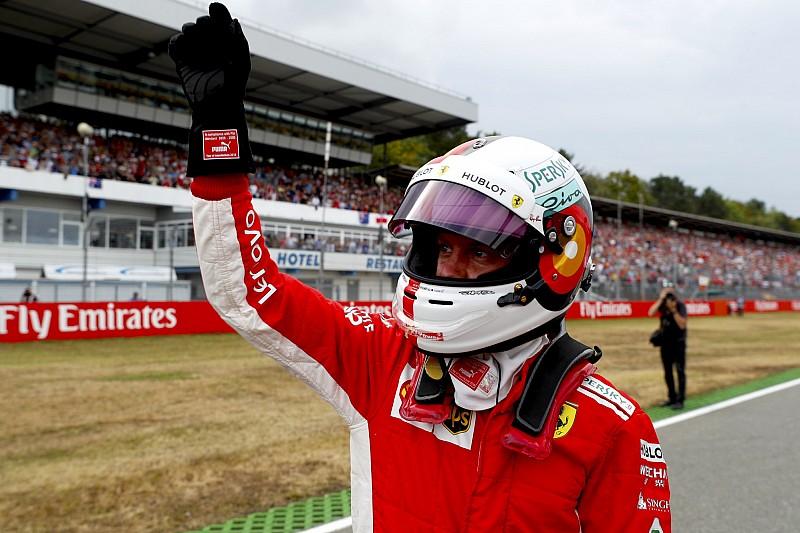 """Vettel raggiante: """"Sapevo di poter fare la pole. La Ferrari qui ha un grande potenziale"""""""