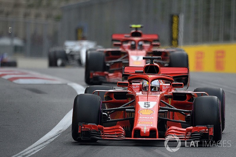 Vettel temía haber perdido la pole en Bakú